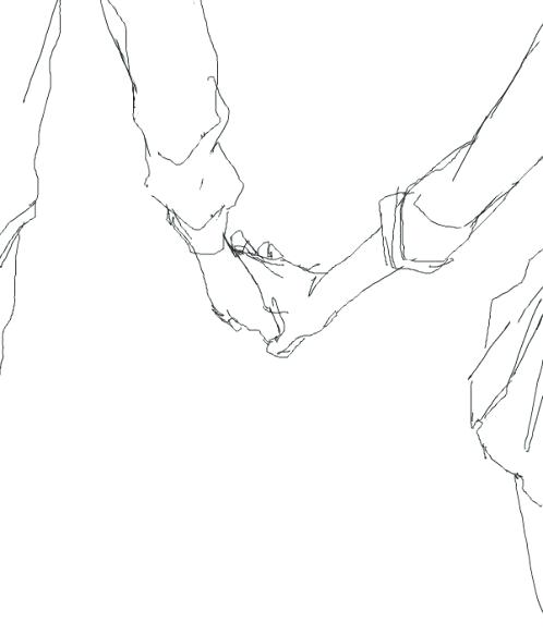498x583 Draw Holding Hands Hand Drawings By How To Draw Cartoon Hands