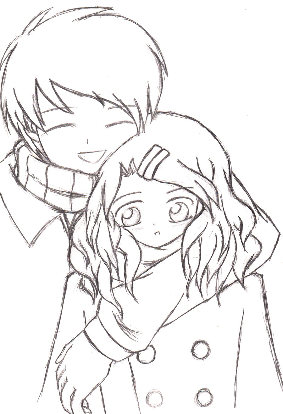 900x1317 A Heartwarming Hug (Sketch 2008) By Keymace101