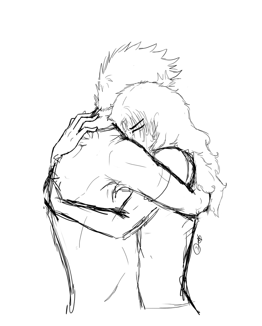 900x1119 People Hugging Drawing How To Draw Two People Hugging Drawing