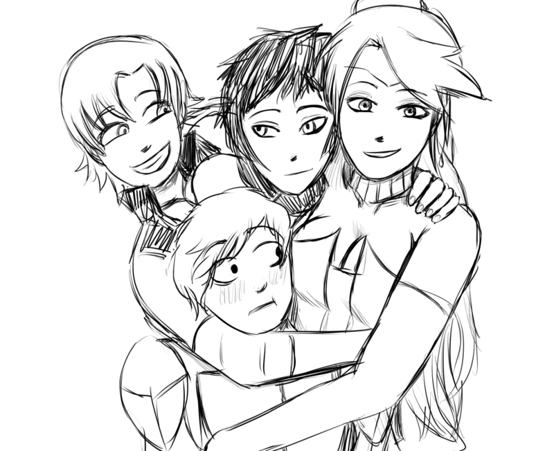 800x652 Team Jnpr Group Hug! (Sketch) By Derrem