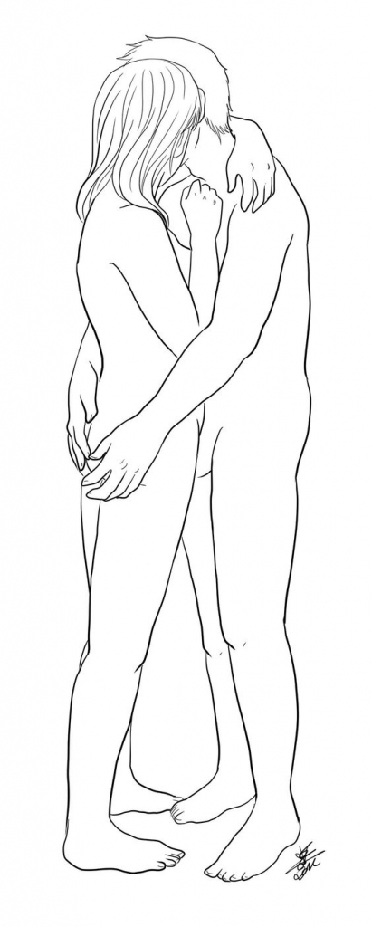 411x1024 Drawings Of Couples Hugging Drawing Of A Couple
