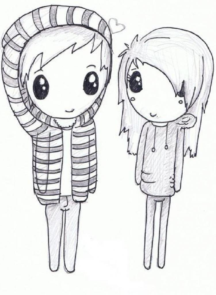 751x1024 Cute Drawings Of People Cute Love Drawings Cute Lovezombie711