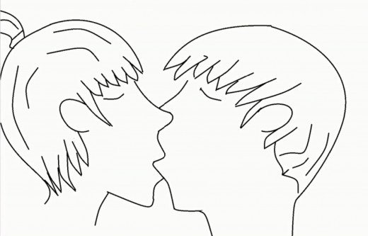 520x333 How To Draw Two People Kissing Step By Step Feltmagnet