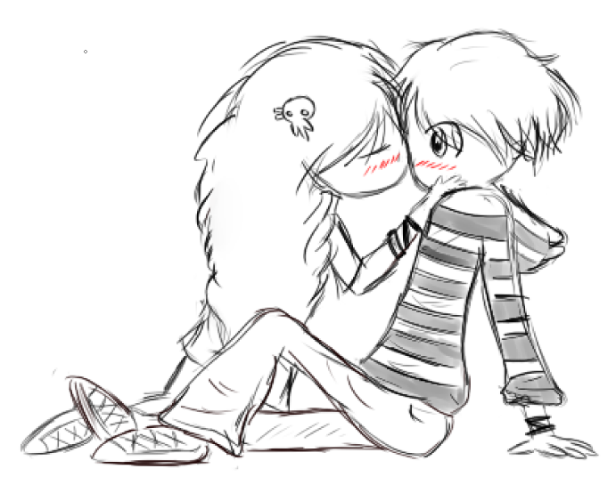 691x563 Two Cute Kids Kissing Or . I Dont Even Know. By Gochure