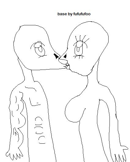 425x531 Anime Couple Kiss Base [Free] By Fufufufoo