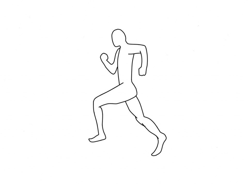 1024x761 Drawing Of A Person Running How To Draw A Running Person Step Step
