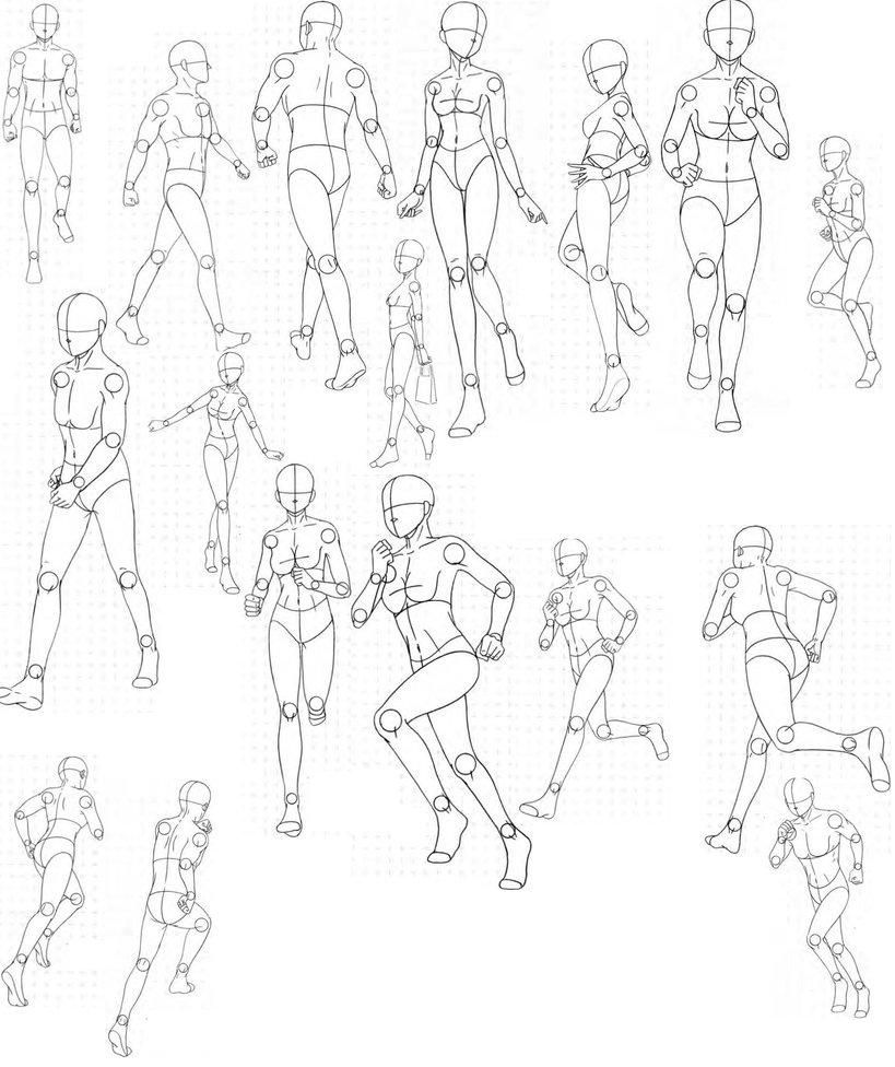 819x976 Running Poses Yedan Running Pose, Pose And Running