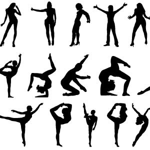 300x300 Free People Silhouettes Vector 2