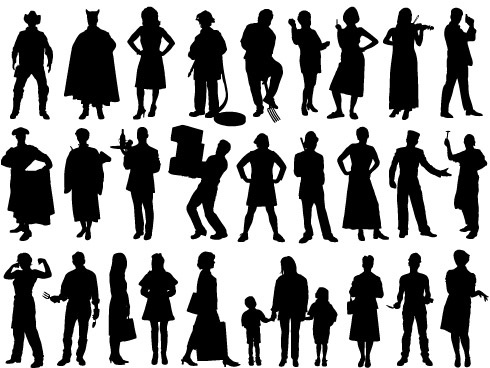 490x368 People Silhouette Free Vector In Encapsulated Postscript Eps