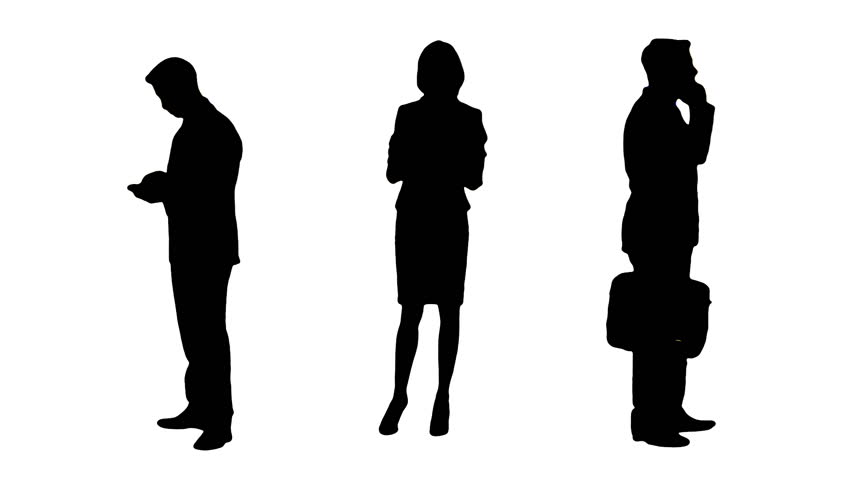 852x480 People Silhouette Stock Footage Video Shutterstock
