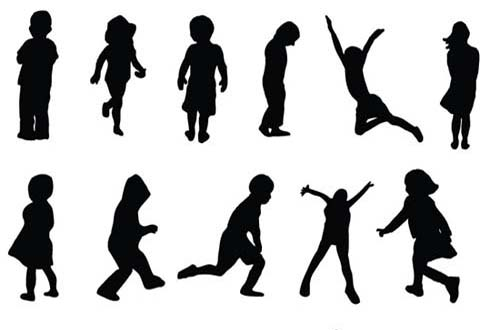 500x330 30 Sets Of Free Vector People Silhouettes For Your Next Design