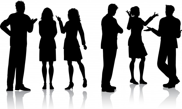 626x377 Silhouettes Of People Talking Vector Free Download