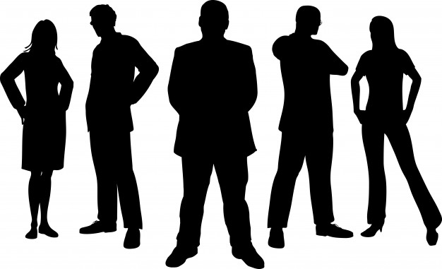 626x381 Silhouettes Of Young Professional People Vector Free Download