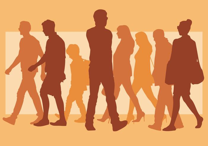 700x490 Walking People Silhouette