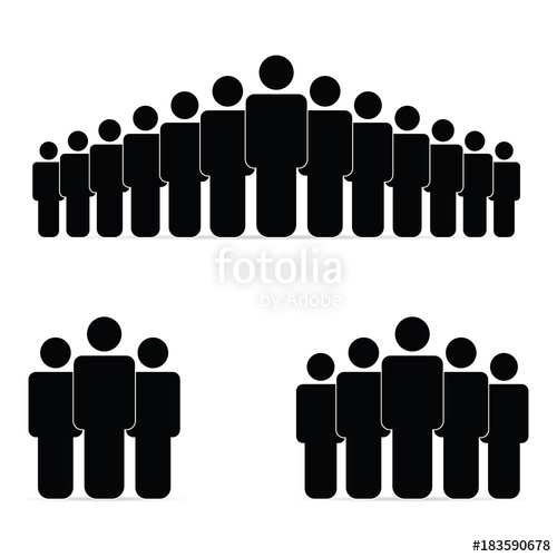 500x500 People Silhouette Icon Illustration Stock Image And Royalty Free