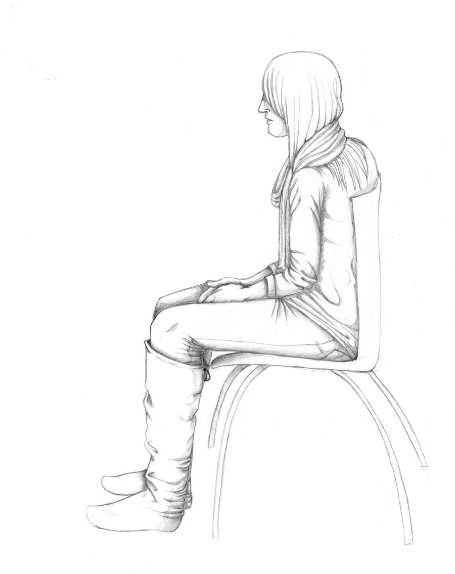 900x1135 Drawings Of People Sitting You Sit In That Chair, Gurl By Tribble