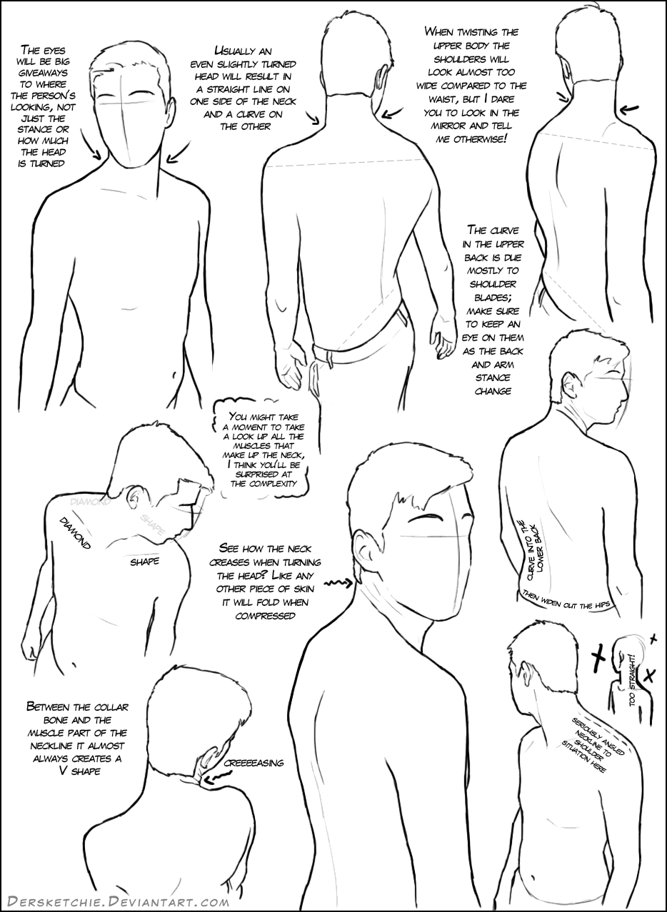 934x1278 Over The Shoulder (Male) Tutorial By Dersketchie