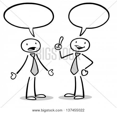 450x435 Two Cartoon Business People Talking Image Amp Photo Bigstock