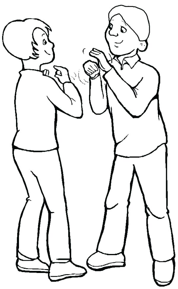 600x973 Asl Coloring Pages Alphabets Coloring Pages American Sign Language