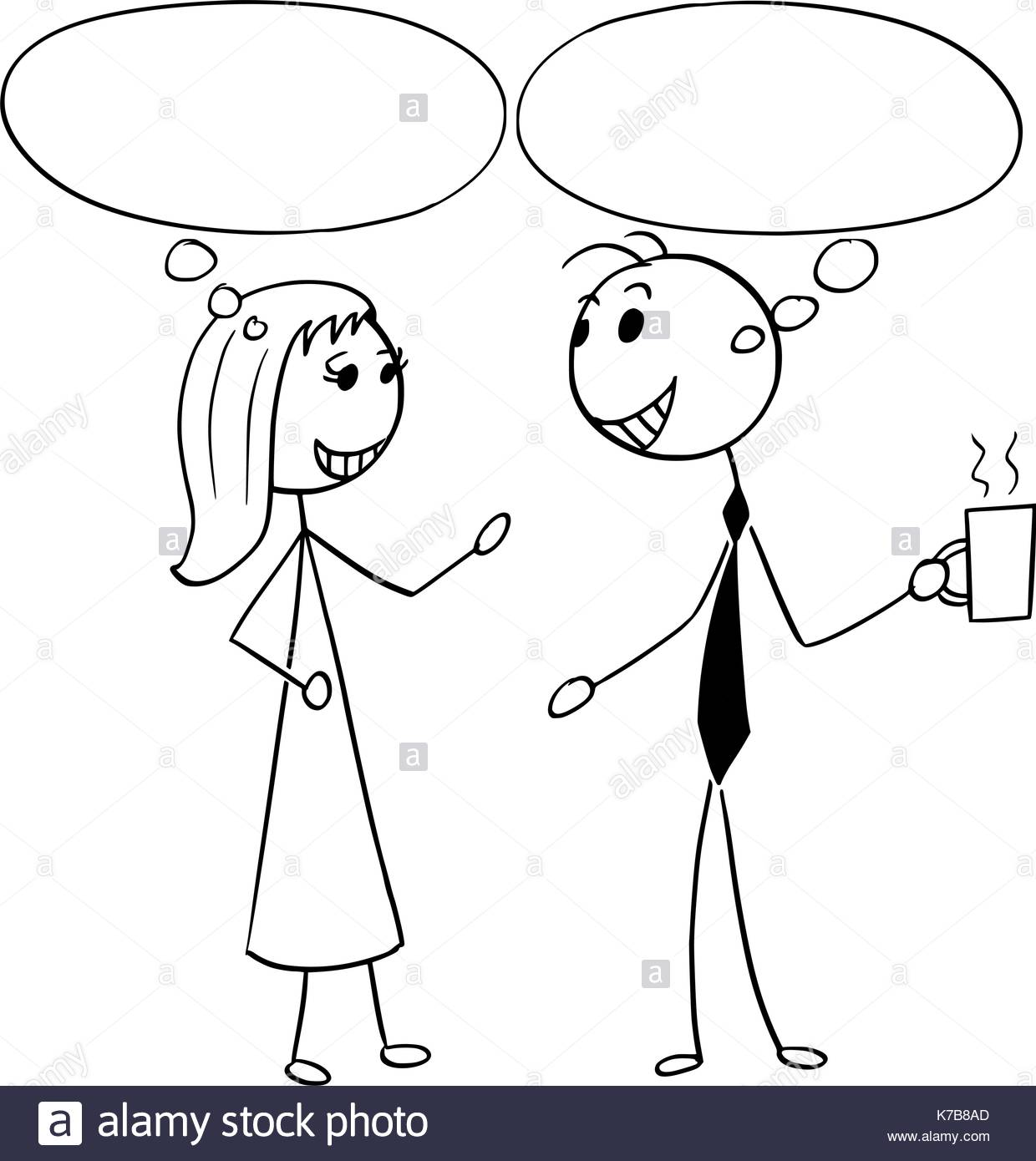 1240x1390 Cartoon Stick Man Illustration Of Man And Woman Pair Business
