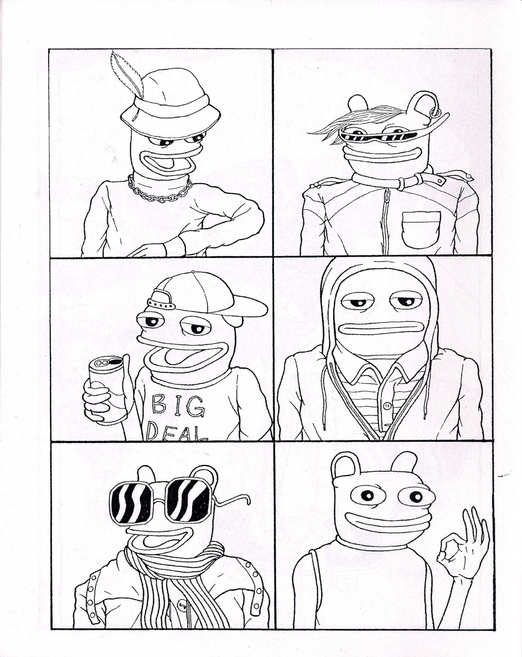 Pepe Frog Drawing