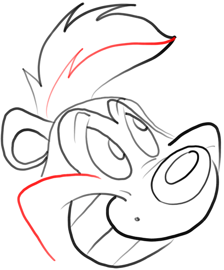 450x544 How To Draw Pepe Le Pew