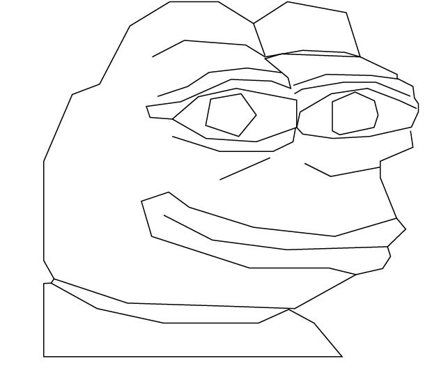 620x538 Outline Pepe Pepethefrog