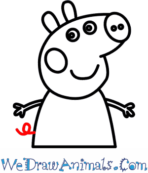 300x350 How To Draw Peppa Pig