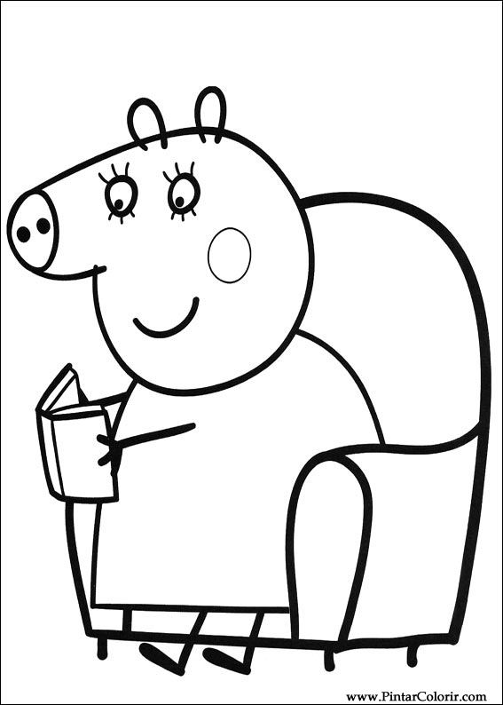 567x794 Drawings To Paint Amp Colour Peppa Pig
