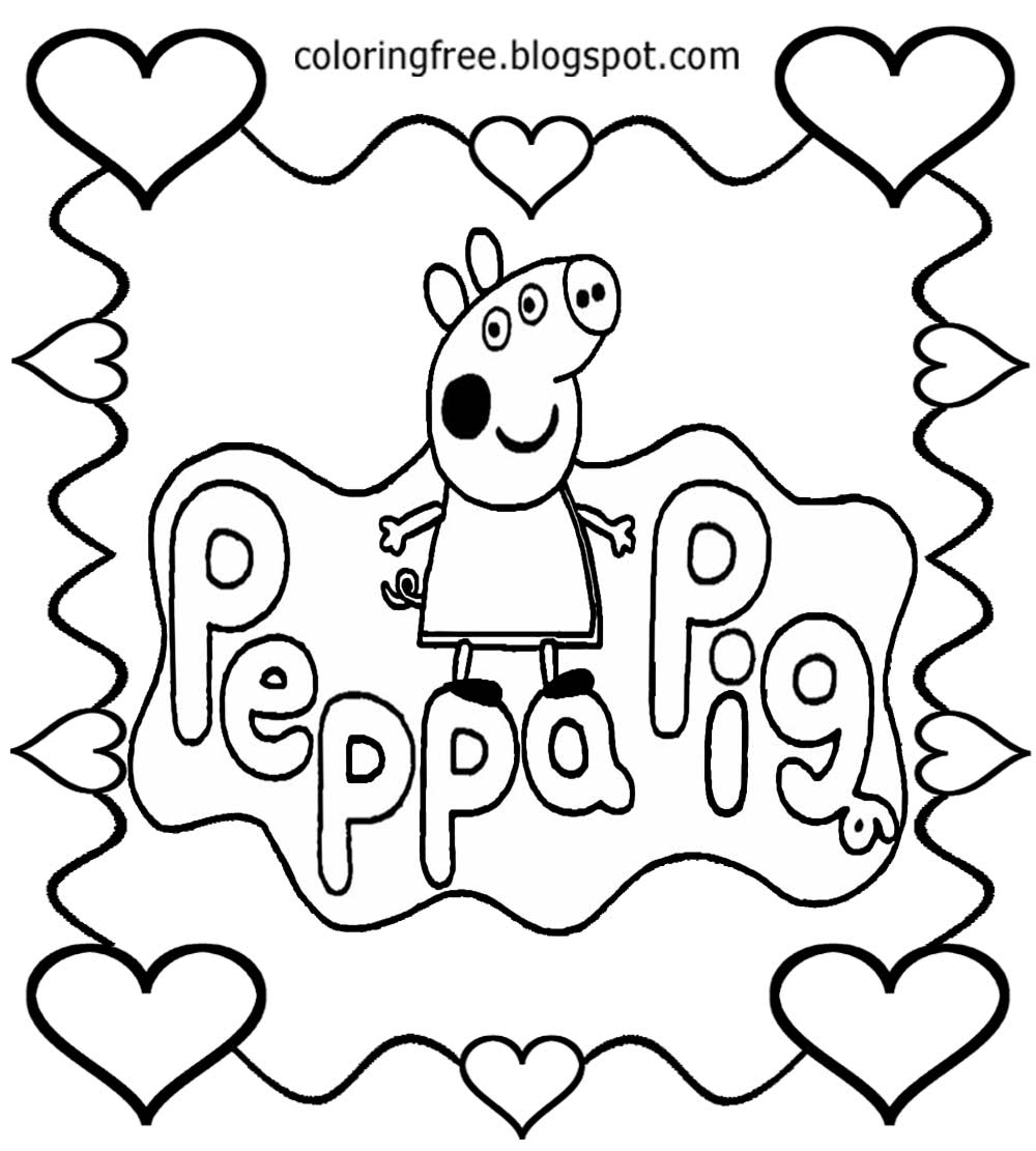 Peppa pig drawing at free for personal for Peppa pig drawing templates