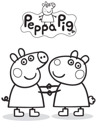 344x446 Marvellous Peppa Pig Coloring Pages 64 On Free Colouring Pages