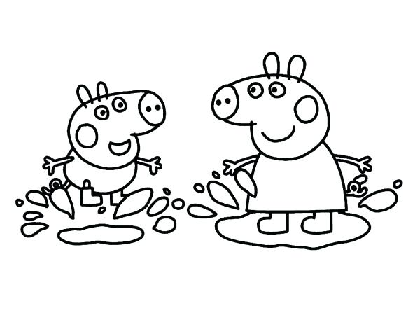 600x450 Peppa Pig Color Pages Pig Coloring Pages Drawing Picture More