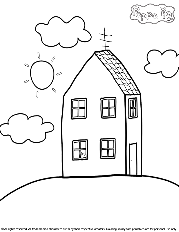 612x792 Peppa Pig Coloring Pages In The Coloring Library Coloring Pages