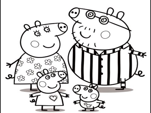 480x360 Peppa Pig Family Drawing And Coloring