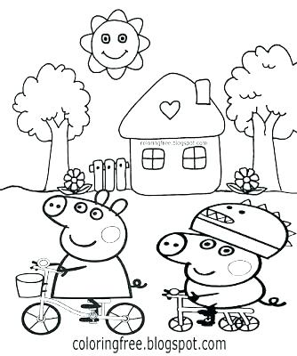 334x400 Coloring Pages Peppa Pig Pig Coloring Pictures Coloring Page
