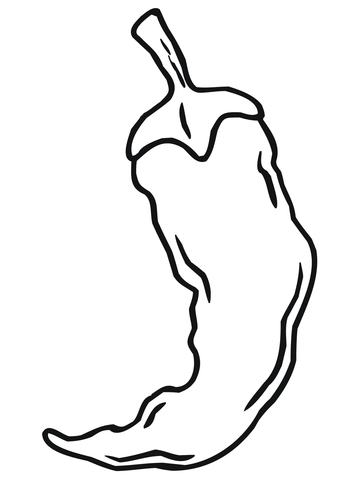 360x480 Chili Pepper Coloring Page Free Printable Coloring Pages