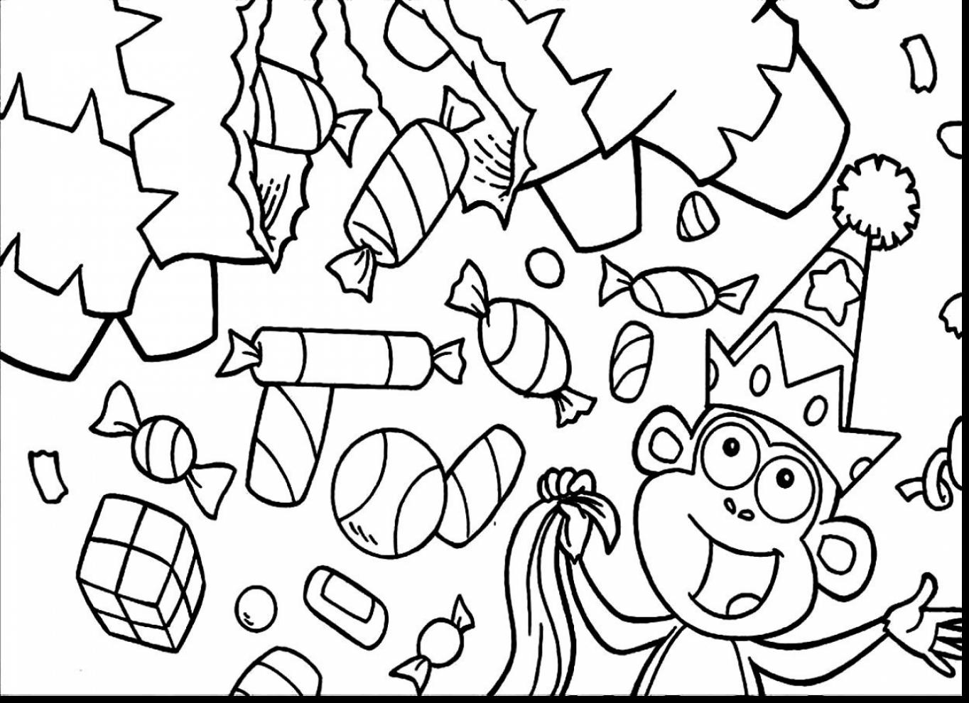 1364x990 Astounding Peppermint Candy Coloring Page With Candy Coloring