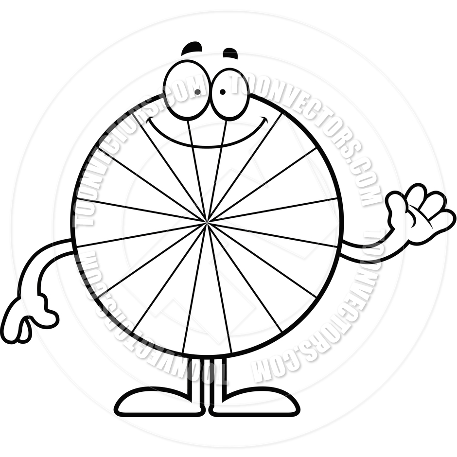 940x940 Cartoon Peppermint Candy Waving Black And White Line Art By Cory