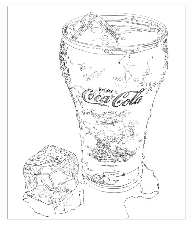 640x748 Coke Sketch.jpg Coca Cola Coca Cola And Cola
