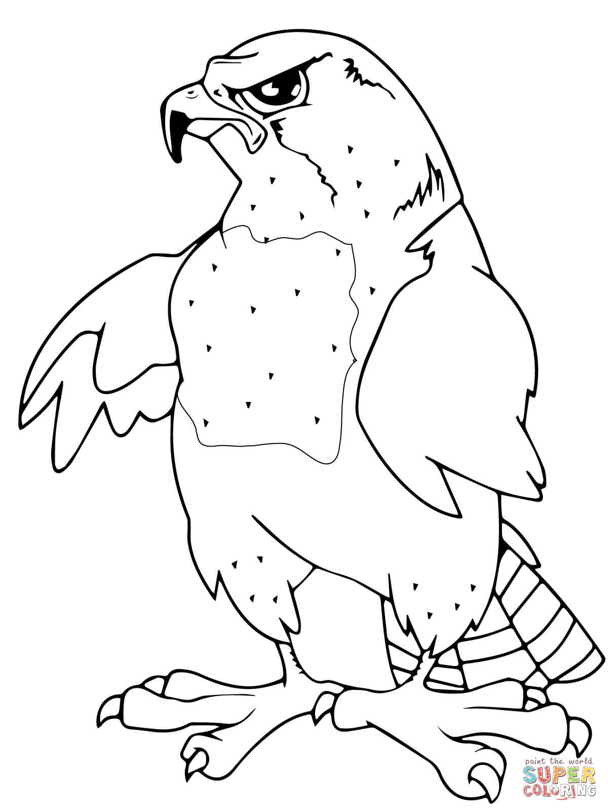 1200x1600 Peregrine Falcons Coloring Page Free Printable Coloring Pages