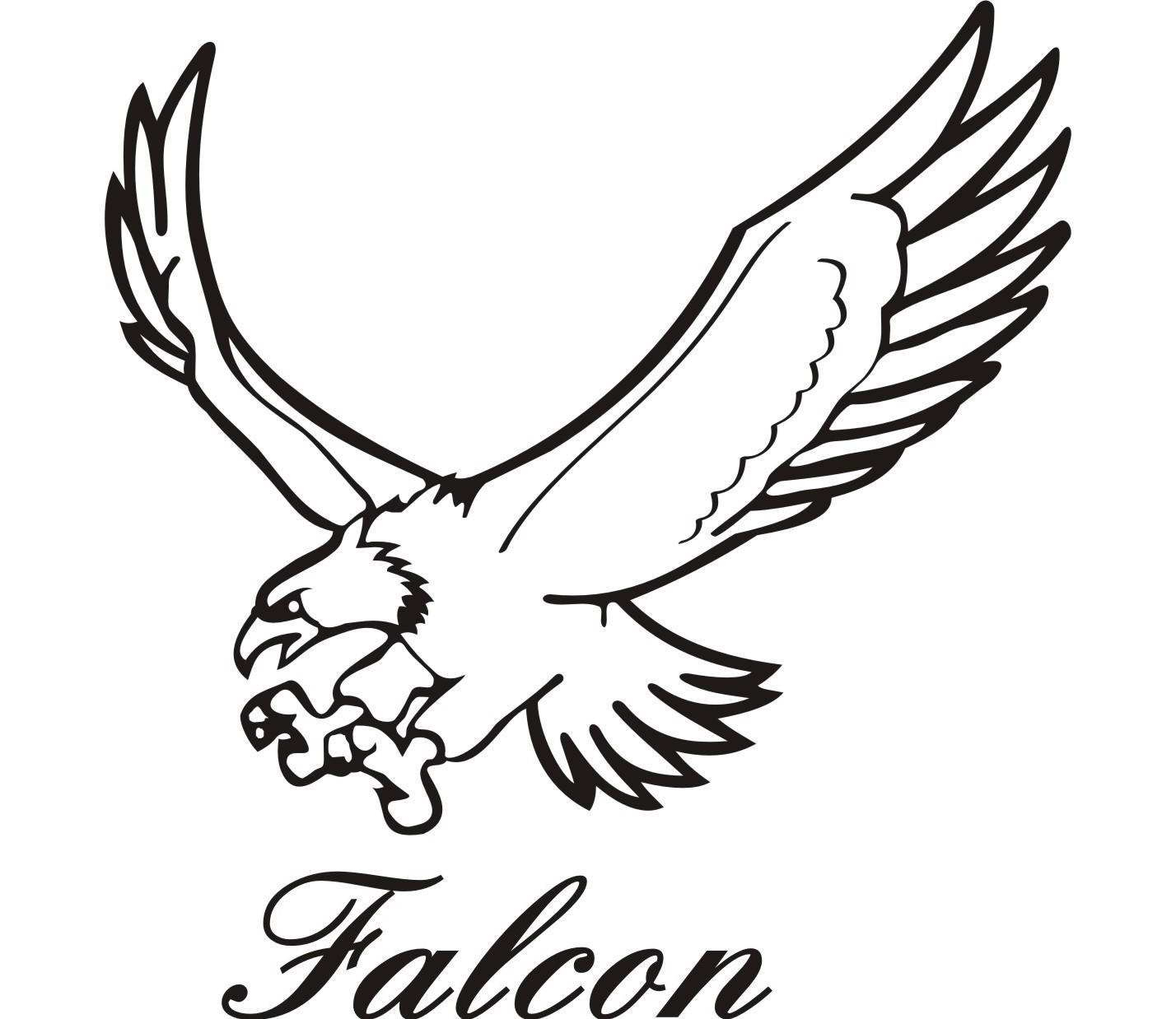 1428x1238 Drawing Falcon Peregrine Falcon Ink Drawing Study