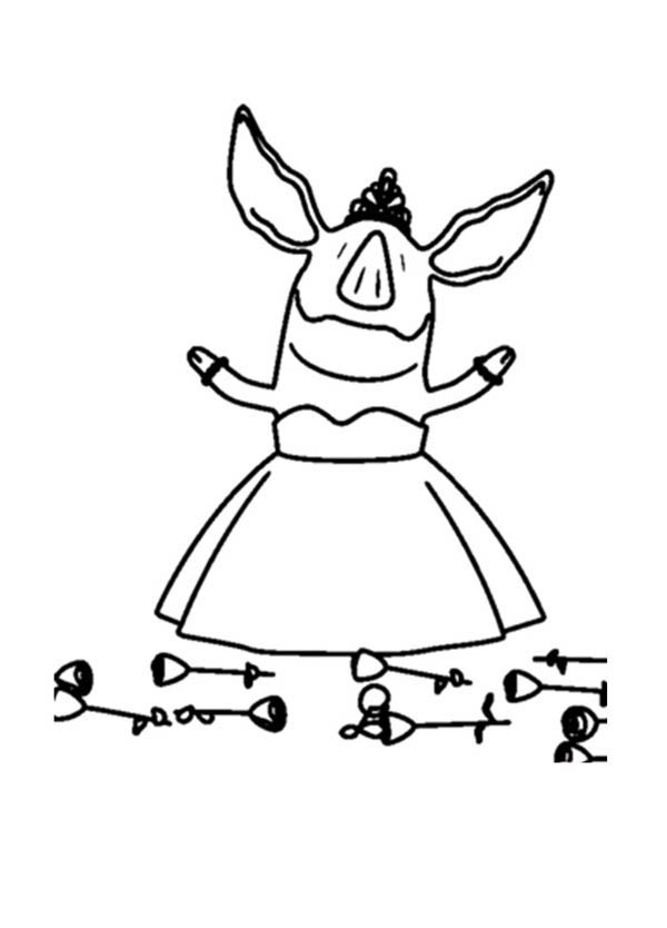 600x834 Olivia The Pig Success Performance Coloring Page