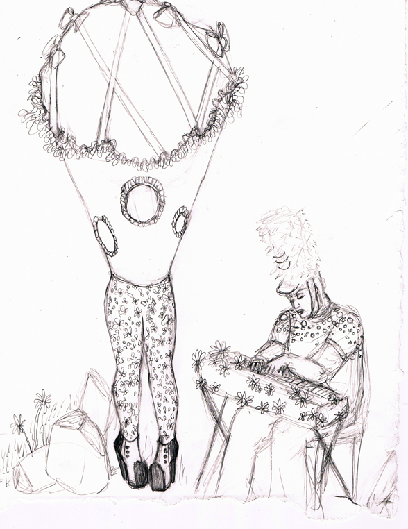 588x762 Sketch For Voice Lesson Performance Matthew De Leon