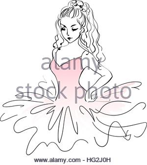 300x336 Sketch Of Ballerina. Expressive Performance Girl Ballet Drawing