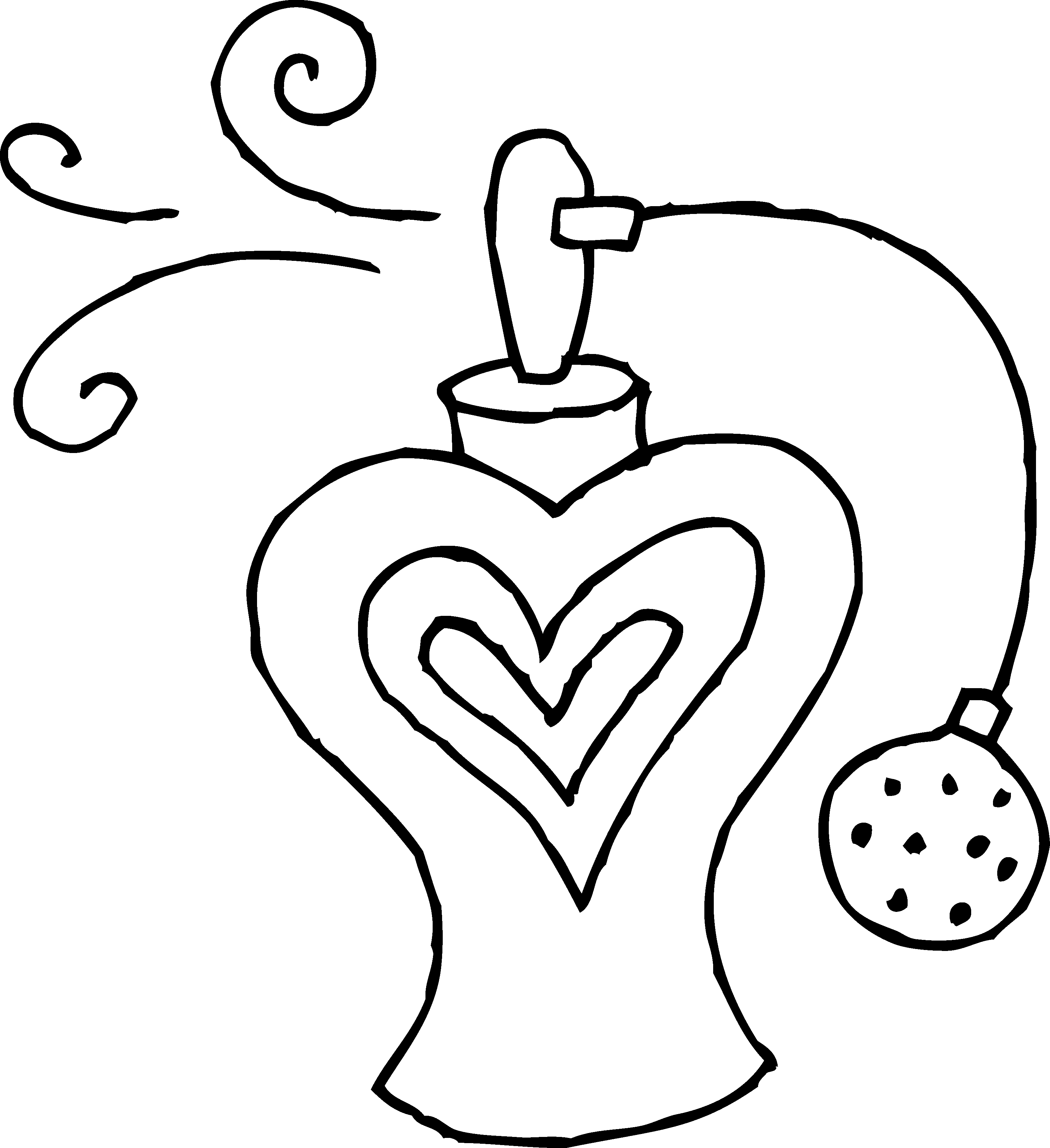 3223x3525 Perfume Bottle Coloring Page Perfume Bottle Coloring Sheets