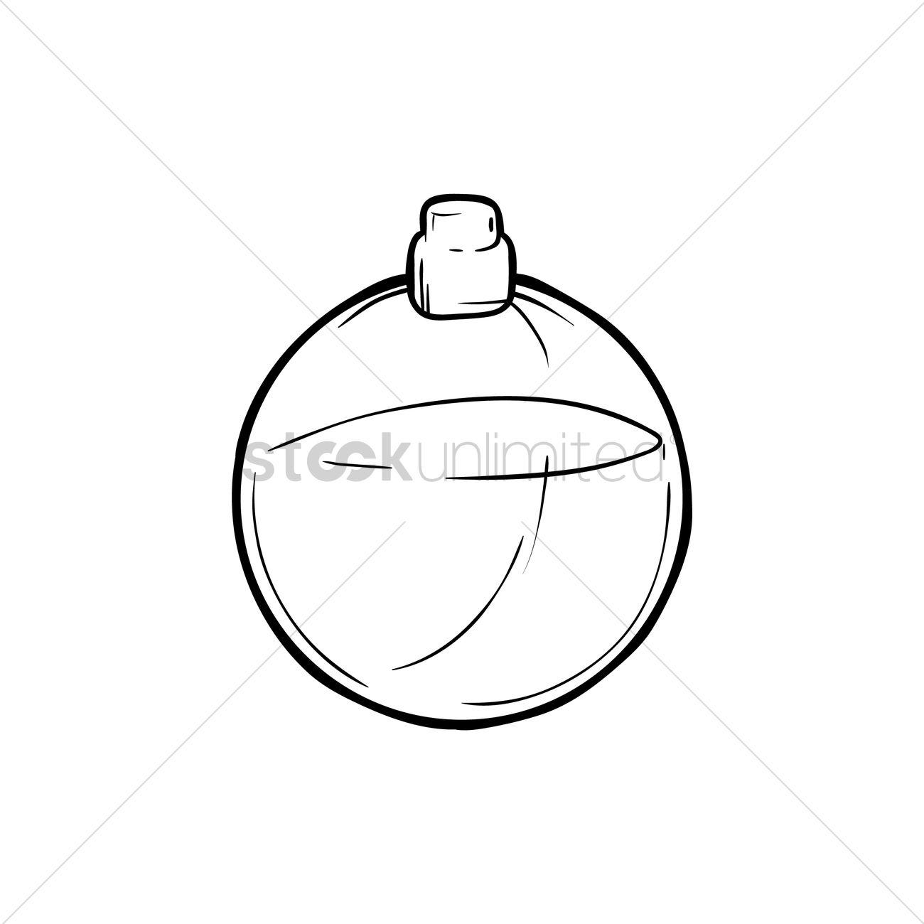 1300x1300 Round Perfume Bottle Vector Image