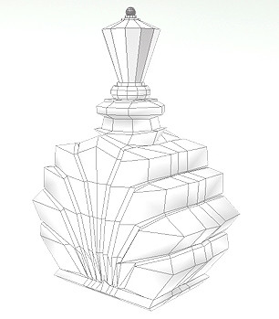 306x349 Technical Drawing Btec Graphics Y1 Perfume Bottle