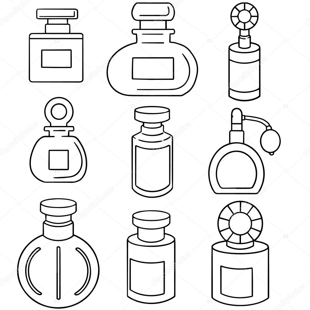 1024x1024 Vector Set Of Perfume Bottle Stock Vector