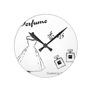 324x324 Perfume Bottles Wall Clocks Zazzle