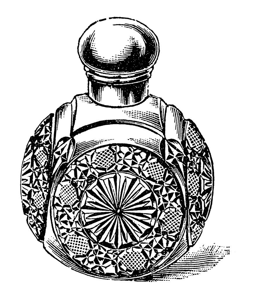 864x1020 Vintage Perfume Bottle Drawing Perfume Bottle Vintage Drawing